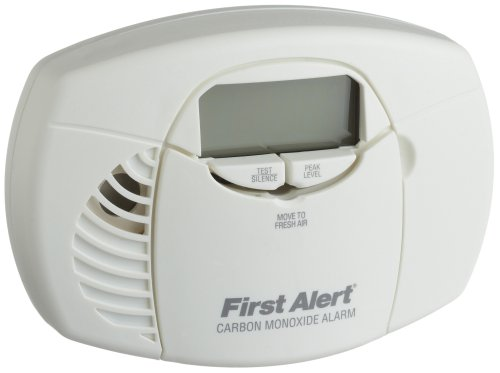 Earliest Alert CO410 Battery Operated Carbon Monoxide Detector Alarm with Digital Display and Peak Memory