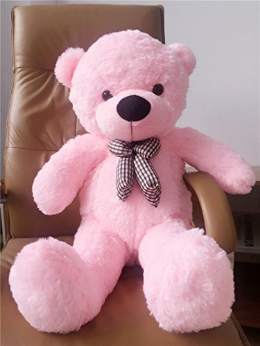Plush Soft Giant Cotton Pink big Huge Stuffed Bow Tie teddy bear doll toy 100cm (Show Me Pictures Of Monster High)