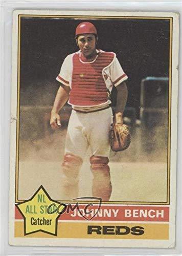 (Johnny Bench Ungraded COMC Poor to Fair (Baseball Card) 1976 Topps - [Base] #300 )