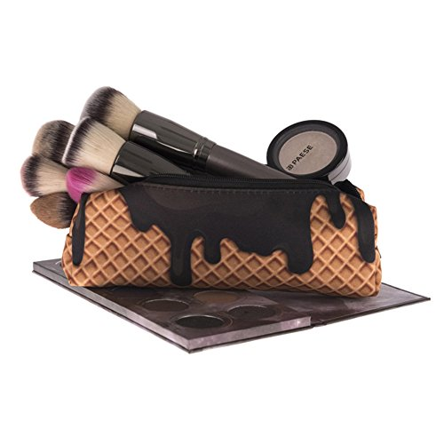 BabyPrice Chocolate Beauty Bag Cosmetic Pouch Pencil Case Clutch Makeup Bag Travel Accessories Organizer (Cosmetics Chocolate)
