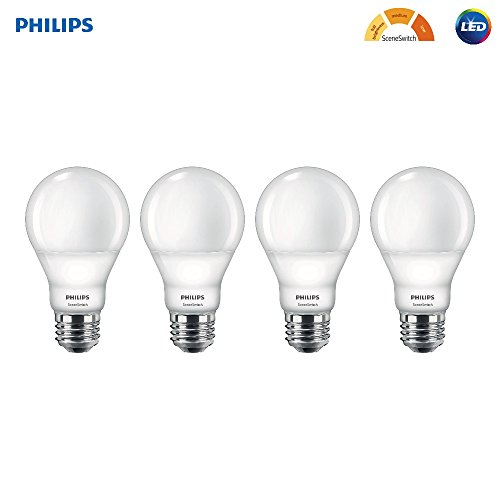 Philips LED A19 SceneSwitch Soft White 3-Setting Light Bulb with Warm Glow Effect: Bright/Medium/Low (60-Watt Equivalent), E26 Base, - 3 Philips Led Bulb Way
