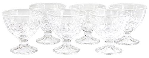 6-Set Eisbecher Dessertschalen Eisschalen Eisschale Eisgläser Eis Glas 240 ml