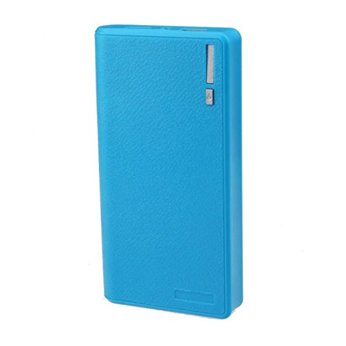 Yoyorule Dual USB 5V 2A 6x 18650 Power Bank Battery Case Box Charger (Blue)