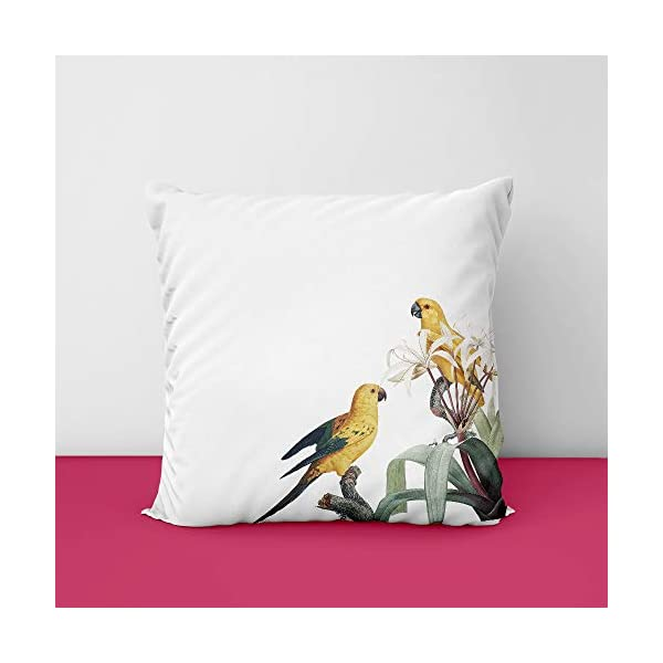 411mDDE9WvL Birds Corner Square Design Printed Cushion Cover