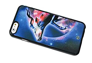 1888998455984 [Global Case] Galaxy Space Infinity Tiger Stars Nebulae Unicorn Sky Universe Hipster Horse Feather Constellation Étincelle (BLACK CASE) Snap-on Cover Shell for VIVO X3