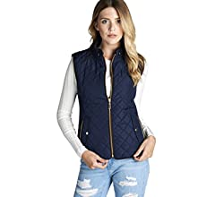f61d350cc8 Active USA Quilted Padding Vest With Suede Piping Details Sizes from ...