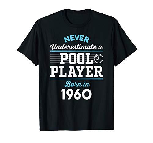 Pool & Billiard Player Gift: 60 Year Old 1960 60th Birthday T-Shirt