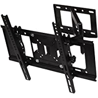 Henxlco Articulating Full Motion Tilt Swivel TV Wall Mount Bracket for most 32 37 40 42 47 50 52 55 60 , some up to 65 Plasma LCD LED Flat Screen Panel TV with VESA up to 600x400mm