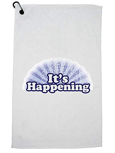 Hollywood Thread It's Happening Golf Towel with Carabiner ()