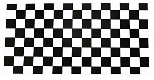 ALBATROS (6 Pack) Black White Checkered Race Advertising Decal Bumper Sticker for Home and Parades, Official Party, All Weather Indoors Outdoors]()