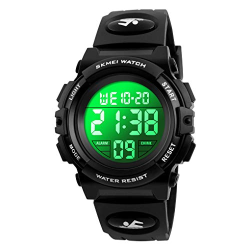 86059bbdb00d Venhoo Kids Watch Digital Outdoor Sport Waterproof 7 Colors EL-Lights  Electrical Watches with Alarm Luminous Stopwatch Casual Child Wrist Watch  for ...