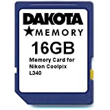 16GB Memory Card for Nikon Coolpix L340