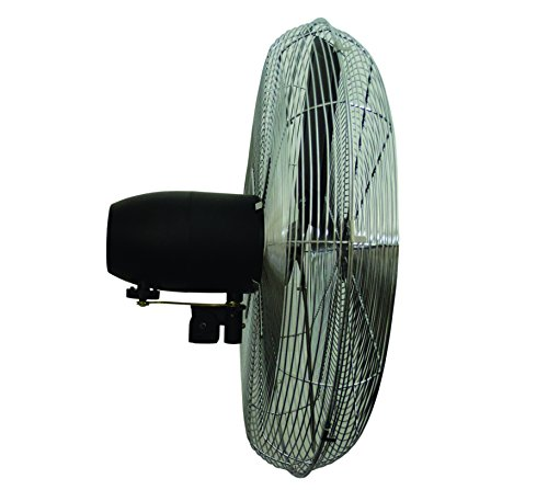"""TPI 8749102 CACU24WO Oscillating Commercial Wall Fan, 24"""""""