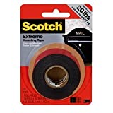 Scotch 414/DC Extreme Mounting Tape, 1 by 60-Inch, Black, Pack of 4