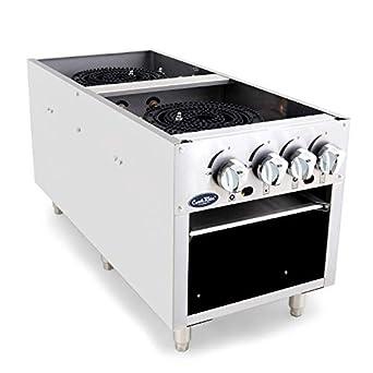 Amazon.com: CookRite ATSP-18-2 - Estufa de gas natural de ...