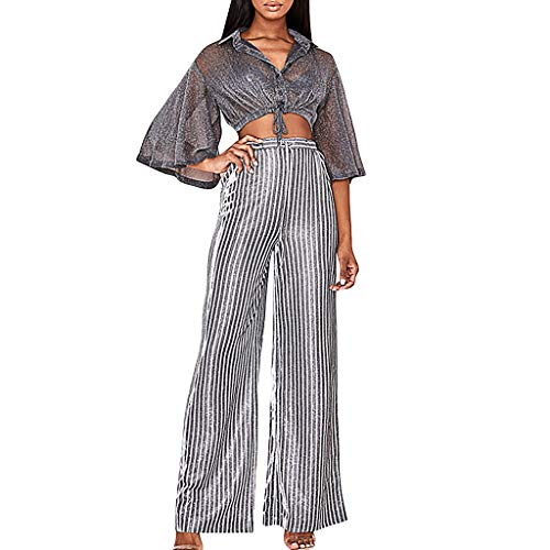 Women Wide Leg Trousers Stripe Print High Waist Pants Cotton and Linen Comfortable Breathable Lace Up Long Casual Relaxed Bottoms