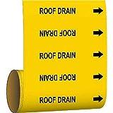 Brady Pipe Marker Roof Drain Green