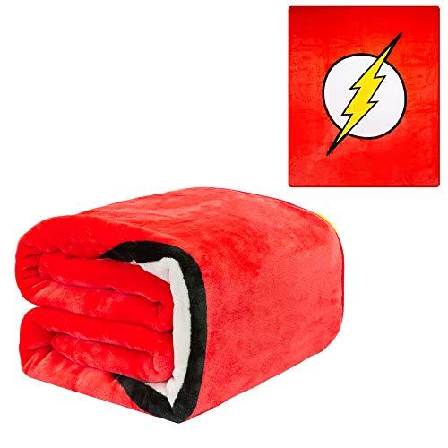 JPI Plush Throw Blanket - The Flash Logo - Queen Bed 79