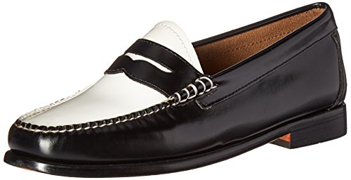 G.H. Bass & Co. Women's Whitney Penny Loafer, Black/White ...