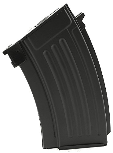 SportPro 220 Round Metal Stubby High Capacity Magazine for AEG AK47 AK74 Airsoft - Black 200 Hi Cap Magazine