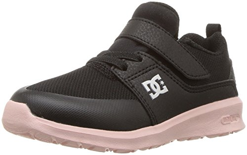 DC Heathrow Prestige EV Girls Skate Shoe, Black/Pink, 2 M US Little Kid