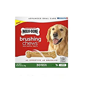 Milk-Bone Brushing Chews Daily Dental Treats, Large (30 ct.) ,40.4 oz (1.15kg)