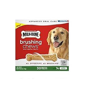 Milk-Bone Brushing Chews Daily Dental Treats, Large (30 ct.) ,40.4 oz (1.15kg) 104