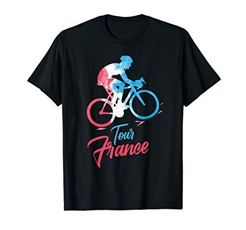 Cycling Tour France T-Shirt and Biking Jersey (Tour De France Polka Dot Jersey For Sale)