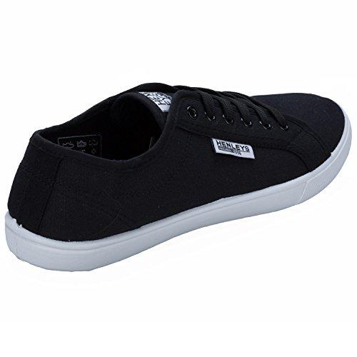 Negro Zapatillas Kenyon Cordones Henleys Casual De Zapatillas Diseñador Hombre Zapatillas Lona vq67qx