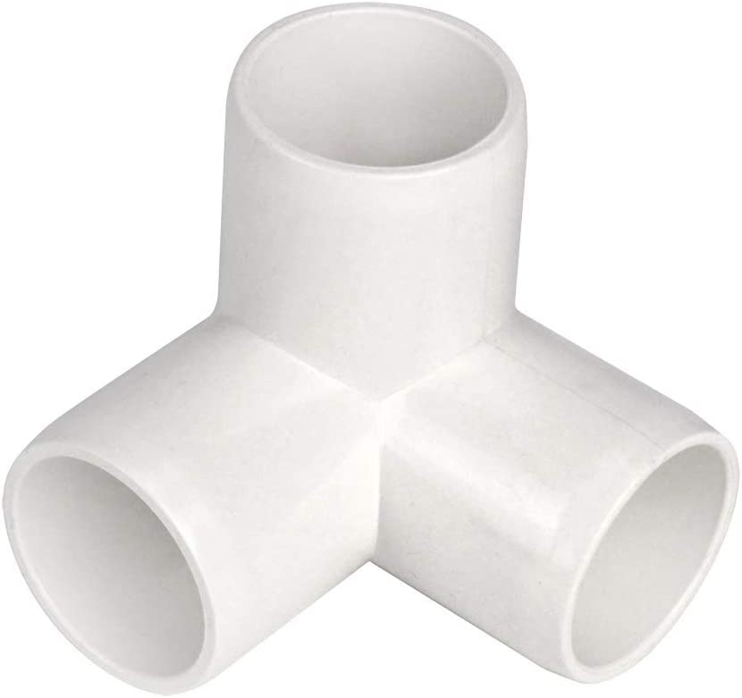 3 Way 1-Inch Tee PVC Fitting Build Heavy Duty Greenhouse Frame Furniture Connectors (Pack of 8)