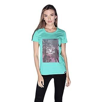 Creo Beach Party T-Shirt For Women - Xl, Green
