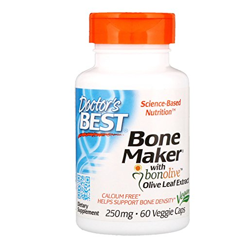 (Doctor's Best Bone Maker with Bonolive, Non-GMO, Vegan, Gluten Free, Soy Free, Helps Increase Bone Density, 250 mg, 60 Veggie Caps)