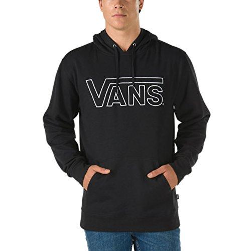 Vans Men's Outline Drop V Pullover Hoodie (Black, Large)