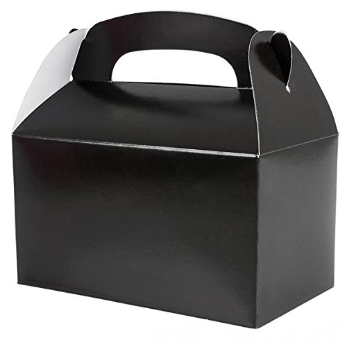 Black Party Treat Boxes (Pack of 12)