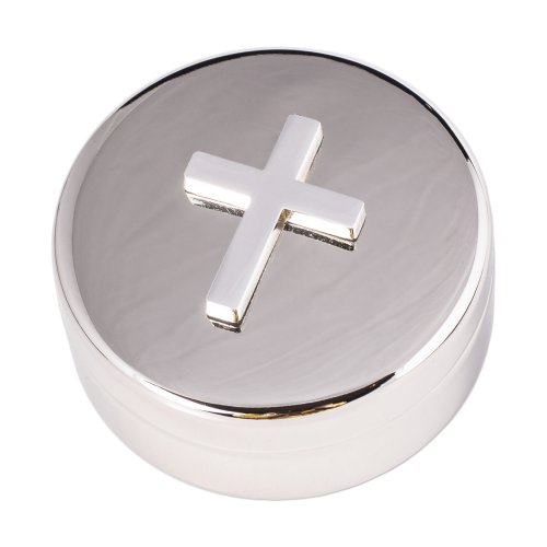 Silver Round Cross 2 25 1home product image