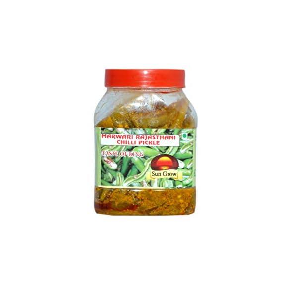 Sun Grow Homemade Marwadi Rajasthani Green Chilli Pickle Hari mirch ka achar ( Without Oil ) ??? ????? ?? ???? 100% Pure