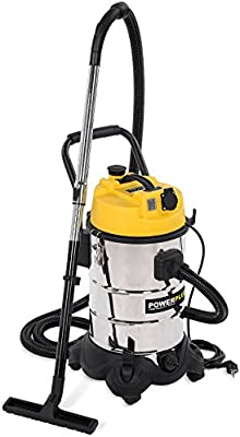 POWERPLUS POWX324 Aspirador seco/húmedo, 1200 W, 240 V, 30 Litros ...