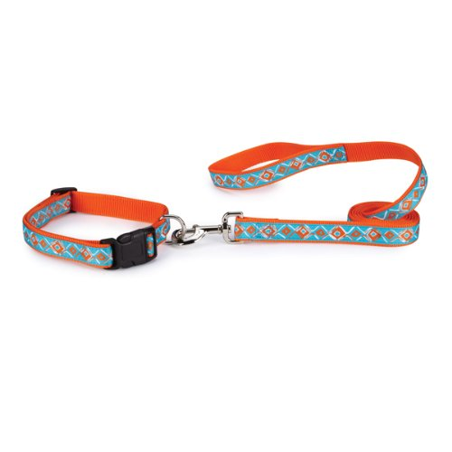 Zack & Zoey Nylon Brite Diamond Dog Lead with Nickel-Plated Swivel Clip, 6-Feet, Orange (Zoey Nylon Brite Diamonds)