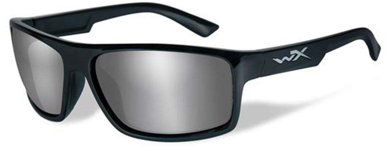 WileyX PEAK Safety Glasses Unisex Full Rimmed Plastic Frames with Polarized Lenses in Wraparound Shape Offered in Matte Black, GLOSS LAYERED TORTOISE & GLOSS BLACK COLOR
