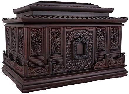 灰大人の骨壷 人間の灰大人のための壺 - 最大360ポンド大人の大型フィットの名残り - この壮大な木製の壺とあなたの最愛の一つは、彼らが値する名誉(850 Cu.In) BUYT