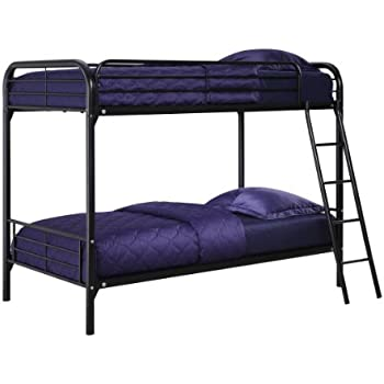 this item dhp twin over twin metal bunk bed black - Bunk Beds Metal Frame