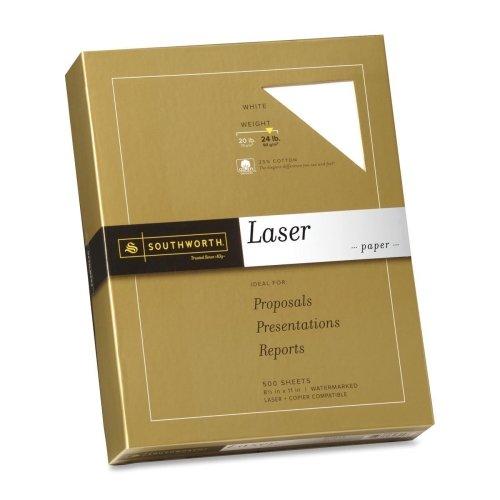 Wholesale CASE of 10 - Southworth 25% Cotton Fine Laser Paper-Fine Laser Paper, 24 lb., 8-1/2''x11'', 500/BX, White by sou