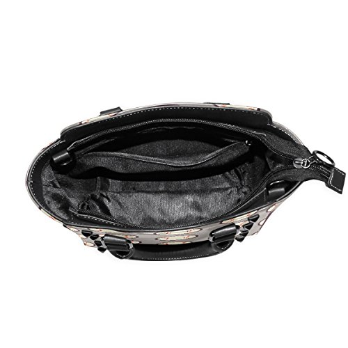 Leather Handle TIZORAX PU Sports Handbags Bags Top Women's Baseball Shoulder aFT0nqfTX