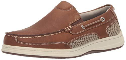 Tan Leather Boat - Dockers Men's Tiller Boat Shoe, Dark Tan, 10.5 M US