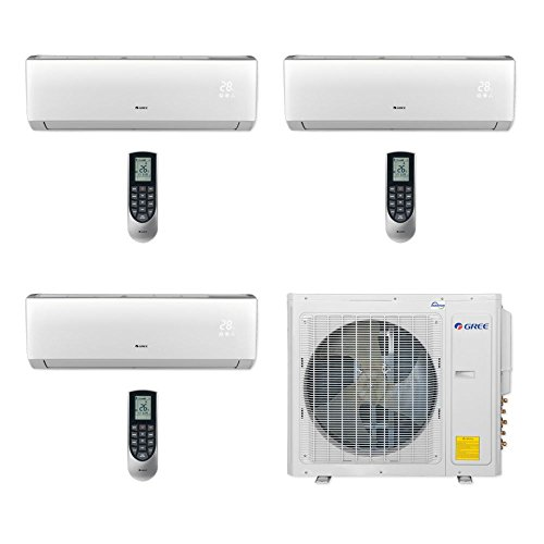 Gree Vireo MULTI30CVIR305 - 30,000 BTU Multi21+ Tri-Zone Wall Mount Mini Split Air Conditioner Heat Pump 208-230V (9-12-18) by Gree