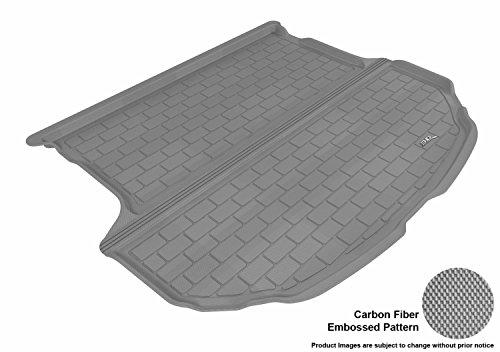 (3D MAXpider M1HY0171301 Cargo Custom Fit All-Weather Floor Mat for Select Hyundai Santa Fe Sport Models - Kagu Rubber (Gray))