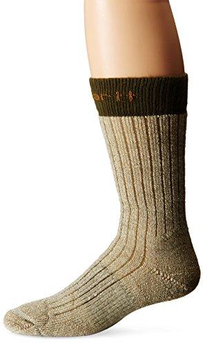 Carhartt Men's Steel-Toe Arctic Wool Boot Socks,  Moss, Shoe