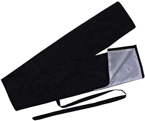 【ノーブランド品】刀袋 ( 一重 ) 黒 日本刀 保管用 装具