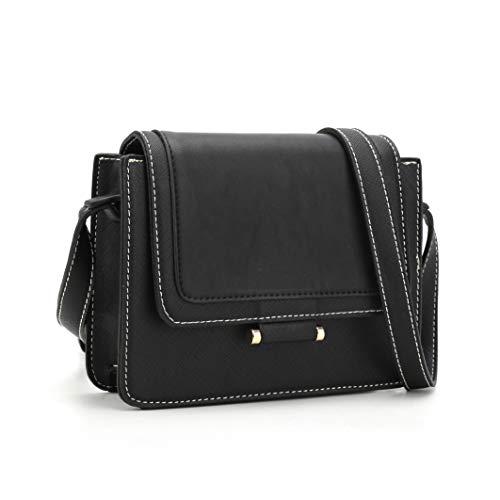 GLITZALL Women's Crossbody Messenger Bag for work Shoudle Bag Casuel Satchel Purse (CB2001S-Black)