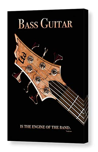 (Engine of the Band Music Quote 6-string Electric Bass Guitar CANVAS Print Portrait Wall Art Musical Instrument Photography Ready to Hang 8x12 12x18 16x24 20x30 24x36)